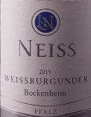 Neiss – Weissburgunder – Bockenheim 2016